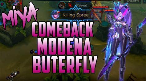 Mobile Legends Miya Modena Butterfly Legend Skin Comeback Gameplay