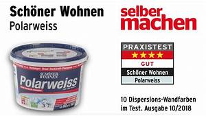 Schöner Wohnen Polarweiss : wandfarbentest sch ner wohnen polarweiss youtube ~ Watch28wear.com Haus und Dekorationen