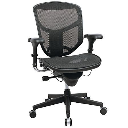 workpro quantum 9000 series ergonomic mesh mid back chair black by office depot officemax