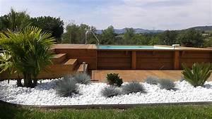 Tour De Piscine Bois : faire une terrasse en bois autour d une piscine ~ Premium-room.com Idées de Décoration