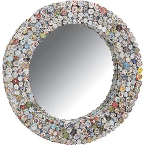 Runde Spiegel Mit Rahmen by Runder Spiegel Mit Rahmen Aus Recyceltem Papier 50cm