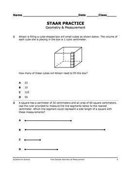 free 5th grade math staar practice geometry and
