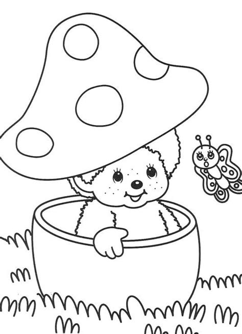 Monchichi Kleurplaat by Monchichi And Butterfly Coloring Pages Coloring