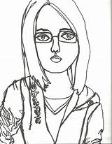Portrait Line Contour Drawing Self Continuous Drawings Coloring Sketches Portraits Sketch Deviantart Outline Lines Template Getdrawings Drawn sketch template