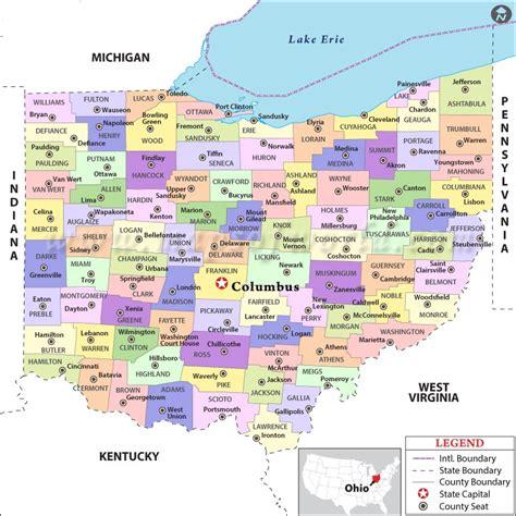 city maps  ohio  travel information
