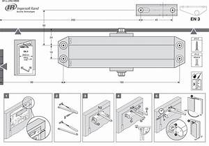 Briton Metal Fire Rated Door Closer Automatic Overhead