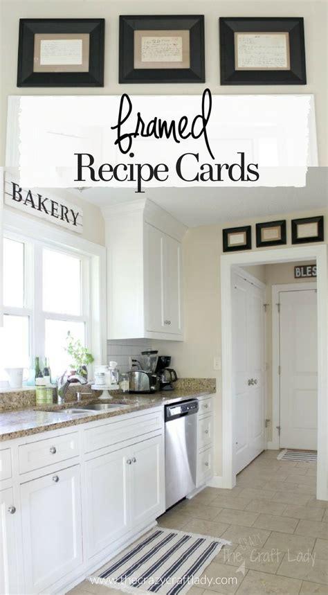 framed recipe cards framed recipes home decor kitchen