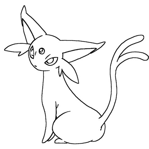 Espeon lineart by Skylight1989 on DeviantArt