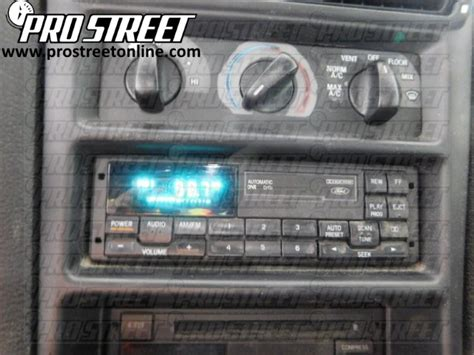 How Ford Mustang Stereo Wiring Diagram Pro Street