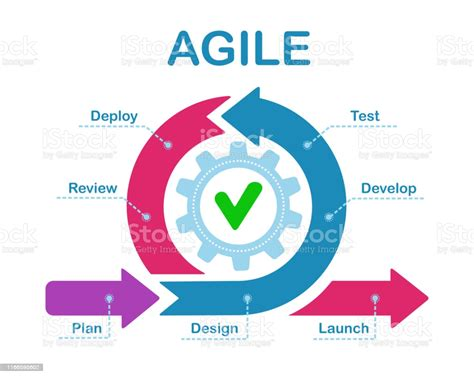 Agile Development Process Infographic Software Developers