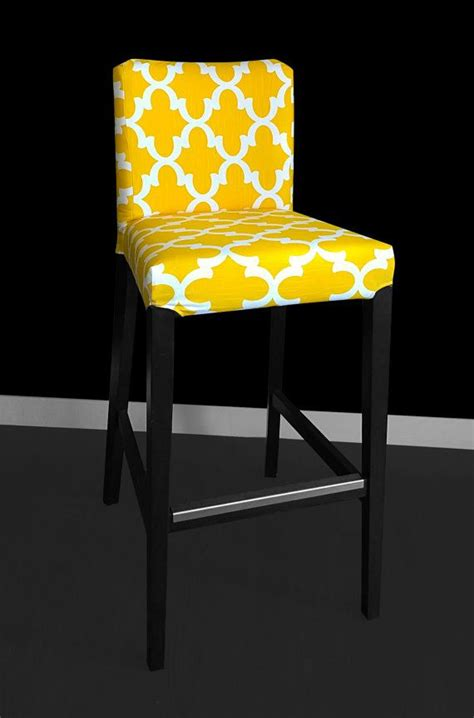 ikea henriksdal bar stool chair cover fynn yellow