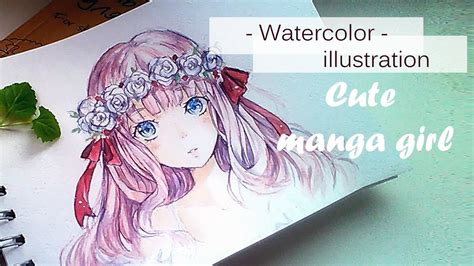 watercolor anime watercolor painting timelapse