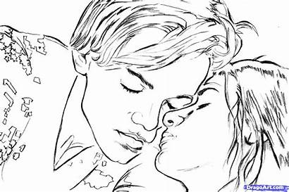 Romeo Juliet Coloring Draw Step Drawing Pages