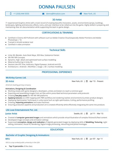 Artist Resume Template by Artist Resume The 2019 Guide To Resume With Sles