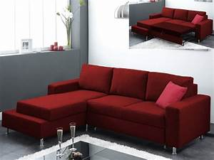 canape d39angle convertible en tissu anthony rouge With canape angle tissu rouge