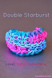 How to Make a Double Starburst Rainbow Loom Bracelet