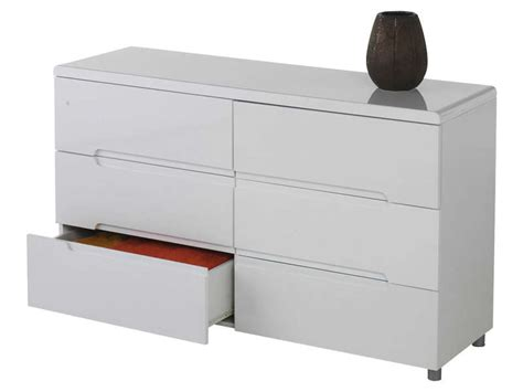 commode blanche 6 tiroirs conforama