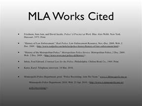 MLA Works Cited Page PowerPoint