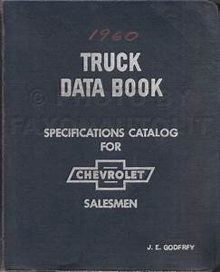 1960 Chevrolet Truck Wiring Diagram Manual Reprint