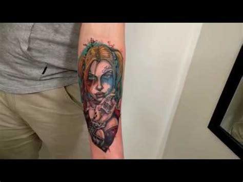 harley quinn forearm tattoo  fluntboy youtube