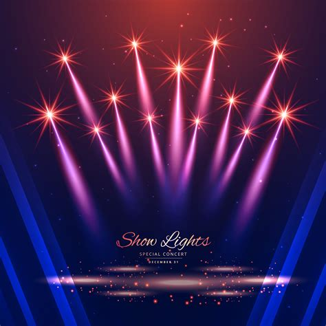 Light Show by Beautiful Show Lights Background Free Vector