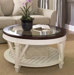 coffee table round white for living room pertaining to With white wood glass top coffee table