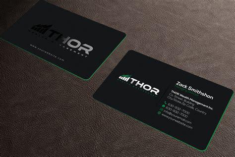 design modern unique professional business card