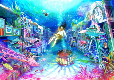 Colorful Anime Wallpaper - colorful underwater world other anime background