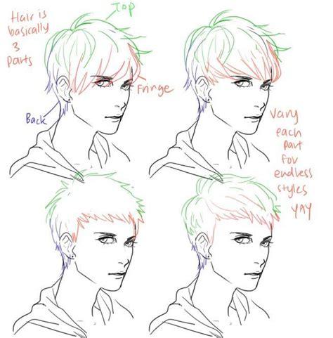 draw  hair tutorials hair anime drawings