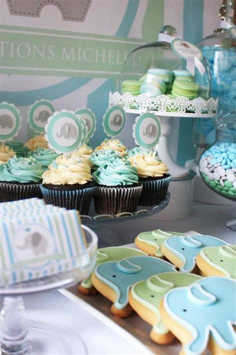 baby shower desserts for boy baby boy shower elephant dessert table decor baby shower pinterest baby boy cookies