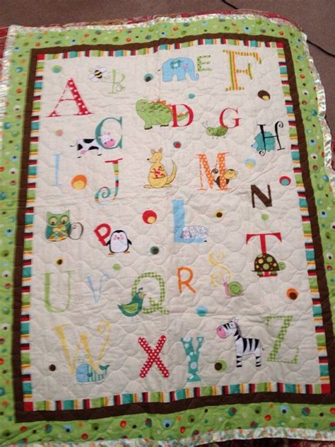 animal alphabet baby blanket  etsy store baby quilts