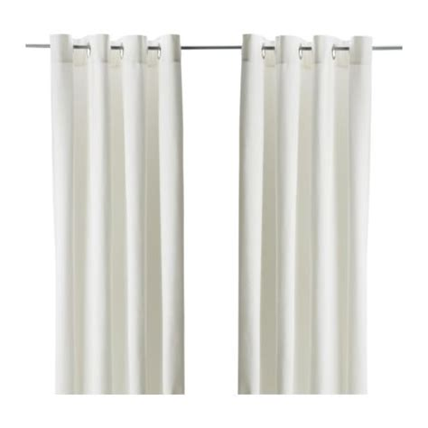 new 2 panels pair ikea white merete curtain drapes grommet