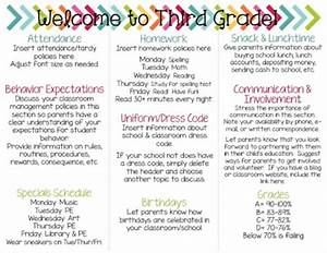 Thehappyteacher back to school brochure for Back to school brochure