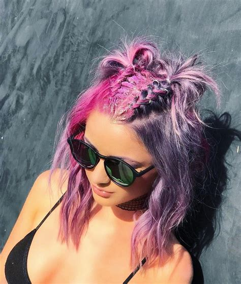 32 Cute Dyed Haircuts To Try Right Now Crazy Colored