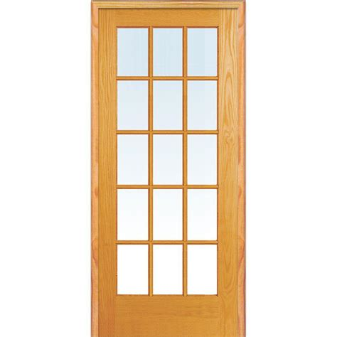 home depot interior glass doors mmi door 36 in x 80 in right unfinished pine glass