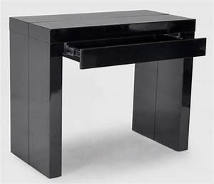 Console Avec Tiroir : console noire avec 1 tiroir 3 allonges algo3 ~ Teatrodelosmanantiales.com Idées de Décoration