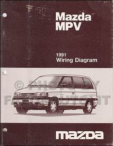 1991 Mazda Mpv Repair Shop Manual Original