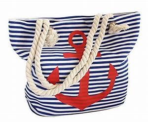 Tasche Mit Anker : sonia originelli strandtasche tasche beutel anker maritim blau weiss gestreift streifen rot ~ Eleganceandgraceweddings.com Haus und Dekorationen