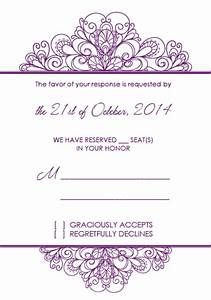 Decorative ornamental header wedding invitation and rsvp for Wedding invitation header design
