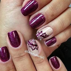Chosen purple nail art designs for creative juice