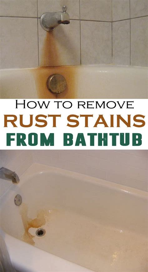 How To Remove Rust Stains From Bathtub Remove Rust