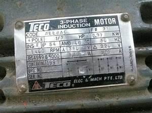 Nameplate Motor 3 Fasa