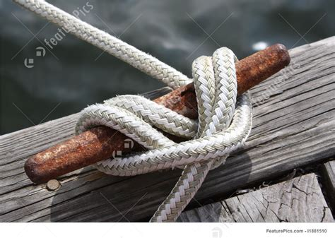 Boat Rope by Boat Cleat Line Rope Knot Secure Image