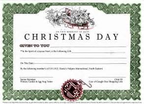 xmas certificate