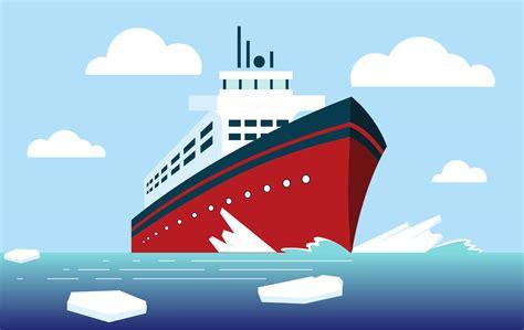 vector icebreaker ship illustration   vector