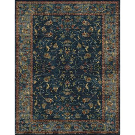 allen roth rugs shop allen roth allen and roth blue indoor oriental area rug common 9 x 13 actual 9 ft w x