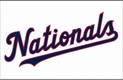 Nationals Washington League Logos Wordmark Clipart Baseball