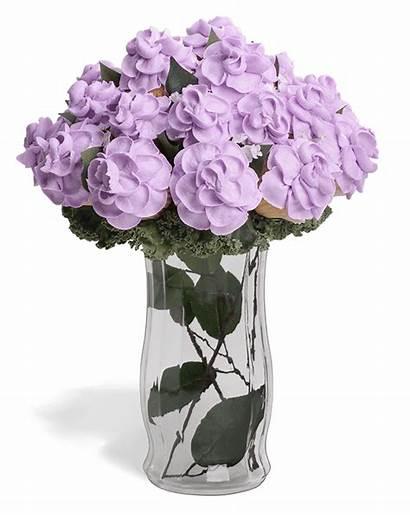 Cupcake Flower Purple Bouquet Transparent Flowers Clipart