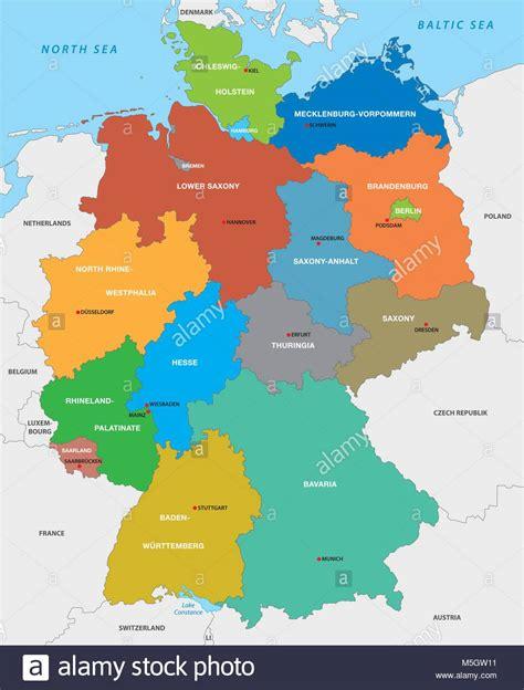 administrative karte der bundesrepublik deutschland