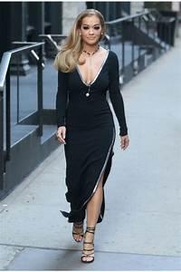 Dressing New York : rita ora new york city black long sleeve v neck prom dress ~ Dallasstarsshop.com Idées de Décoration
